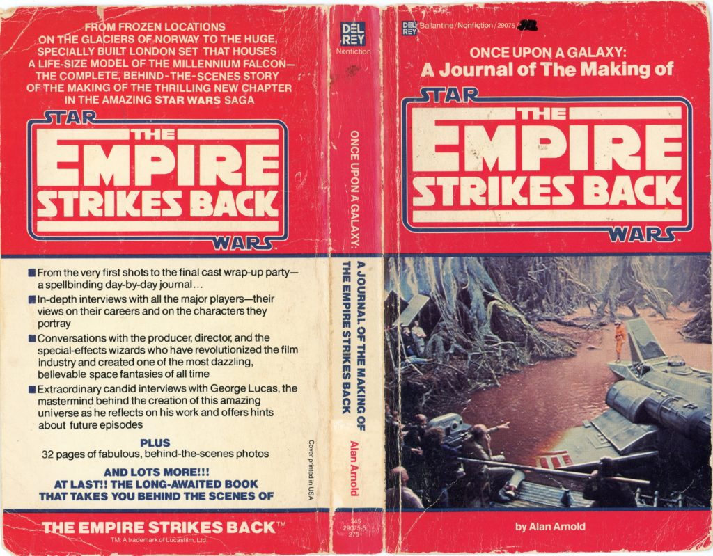 Photo of the front and back cover of Once Upon a Galaxy: A Journal of The Making of The Empire Srikes Back by Alan Arnold.