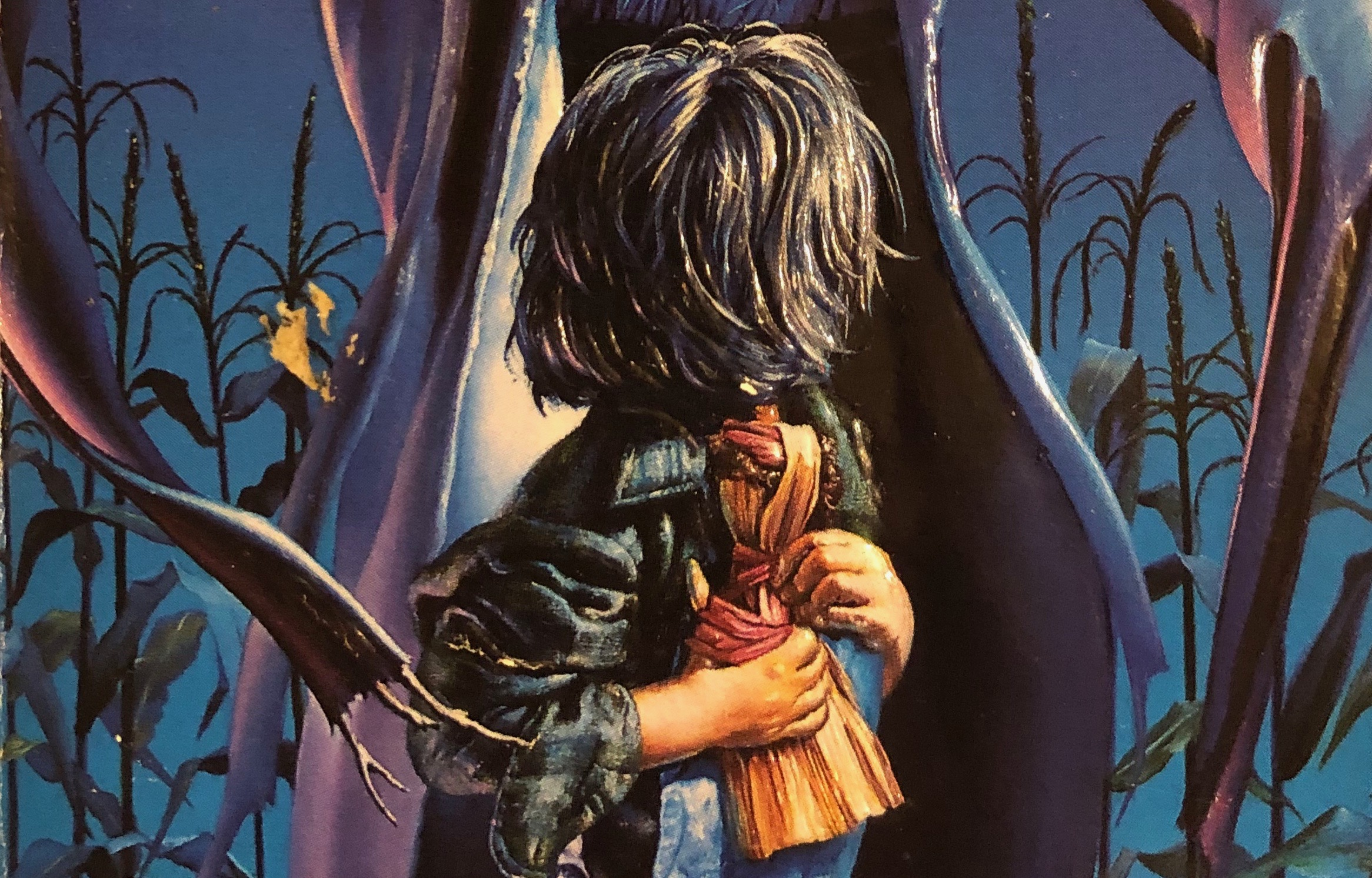 "A crop of the cover design for the book ""Scarecrow."""