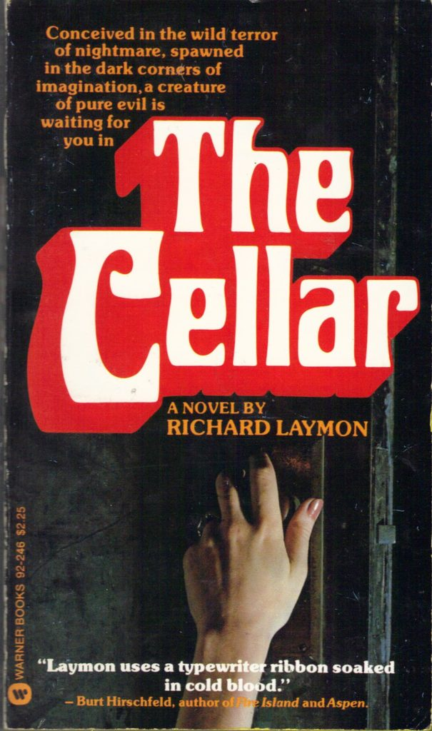 "Alternative cover design for ""The Cellar,"" featuring a hand turning a door knob."