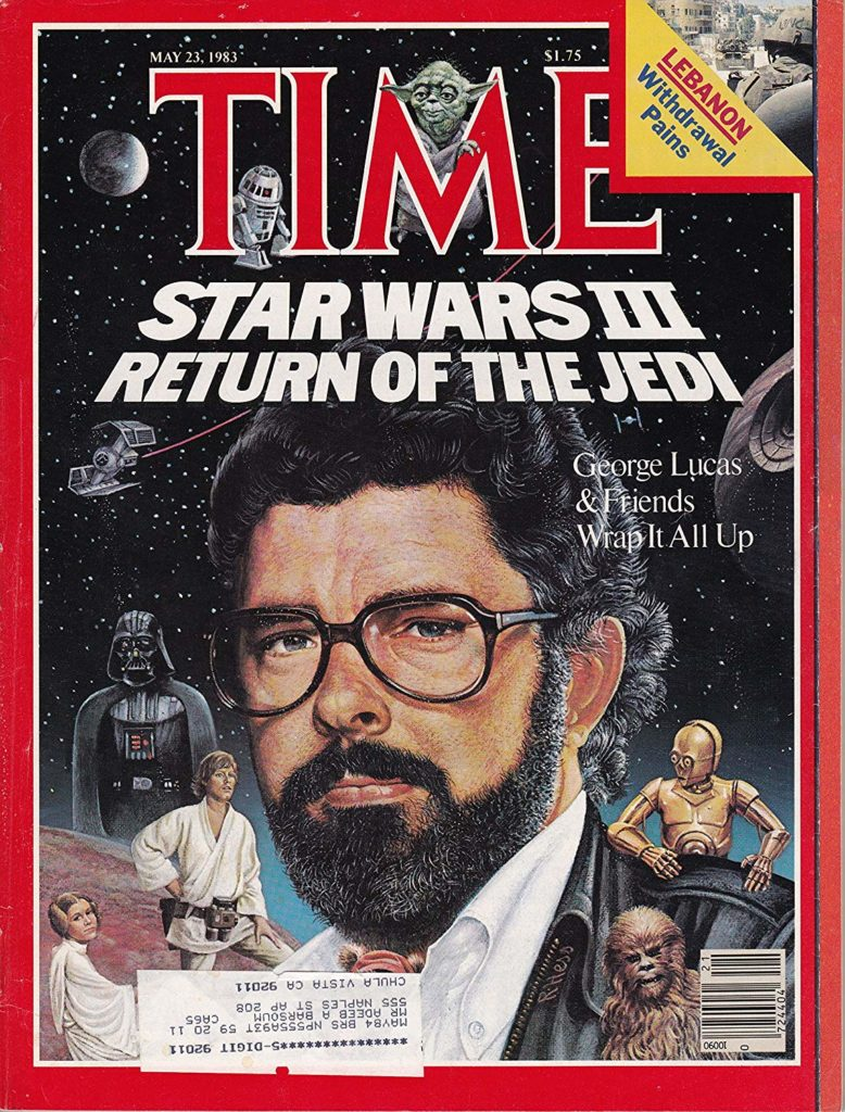 George Lucas on the cover of TIME Magazine in 1983.