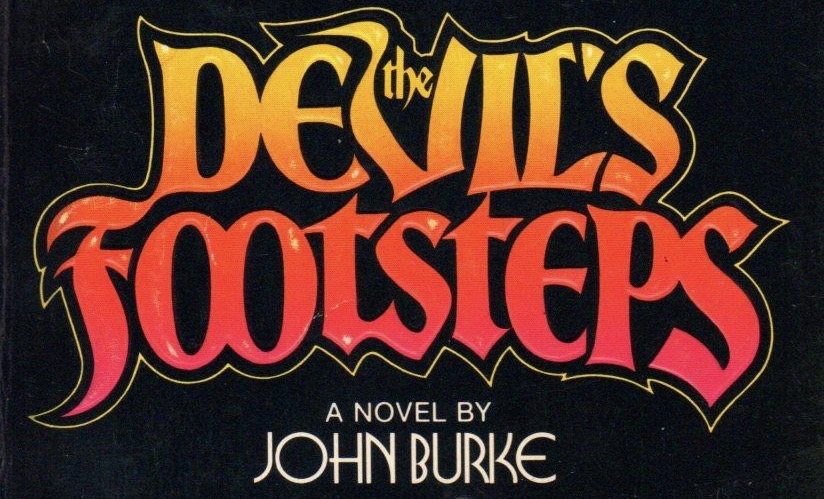 Title treatment for The Devil's Footsteps by John Burke