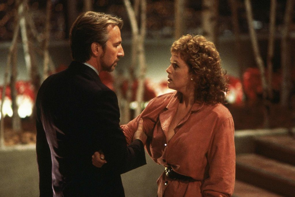 Hans Gruber and Holly McClane in Die Hard