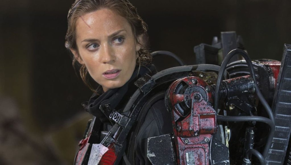 "Emily Blunt as Sergeant Rita Vrataski in ""Edge of Tomorrow."""