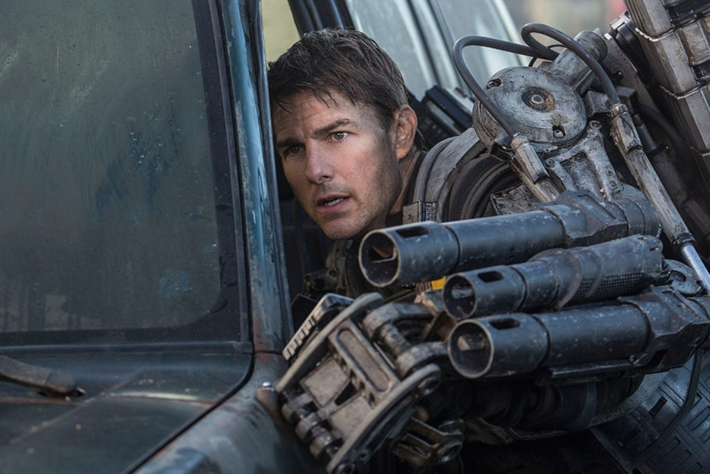 Tom Cruise as Major William Cage in Edge of Tomorrow.
