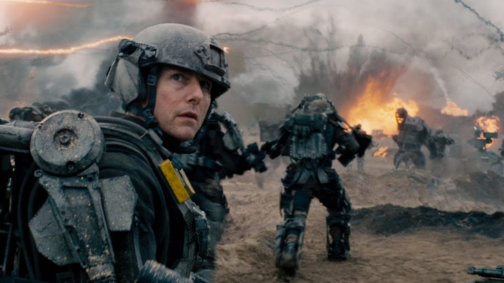 "Tom Cruise as Major William Cage in ""Edge of Tomorrow."""