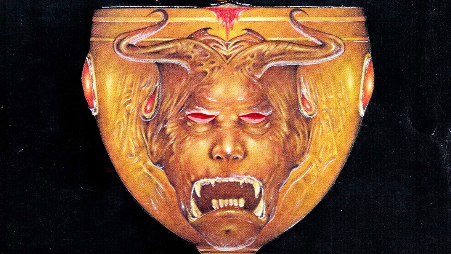 Satanic chalice with a demon's face