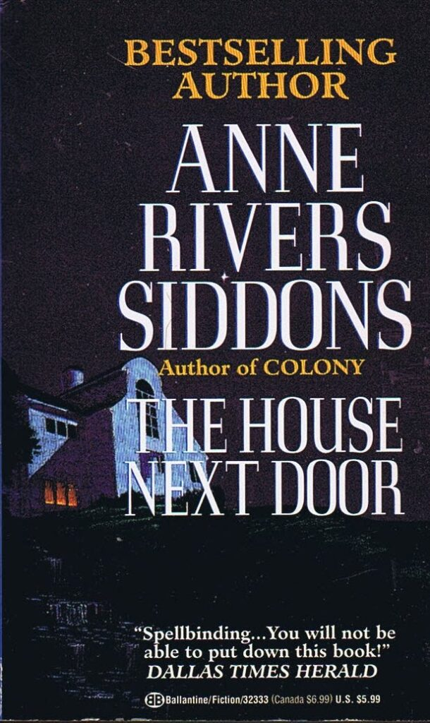 Ballentine press's 1990 cover with a large white house sitting ominously in the night.